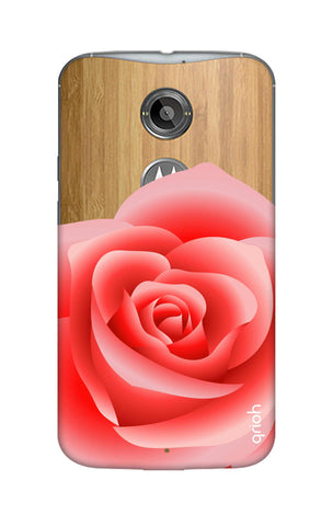 Peach Rose Motorola Moto X2 Cases & Covers Online