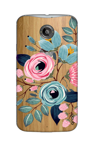 Pink And Blue Floral Motorola Moto X2 Cases & Covers Online