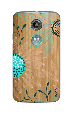 Pink And Blue Petals Motorola Moto X2 Cases & Covers Online