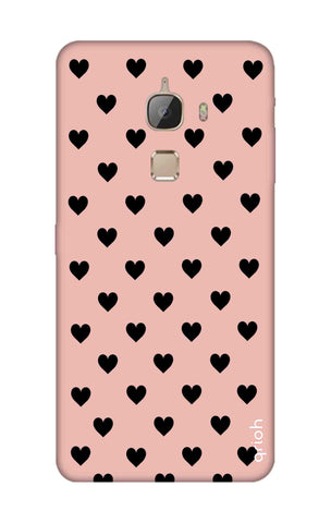 Black Hearts On Pink LeTV Le Max Cases & Covers Online