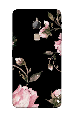 Pink Roses On Black LeTV Le Max Cases & Covers Online
