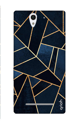 Abstract Navy Sony C3 Cases & Covers Online