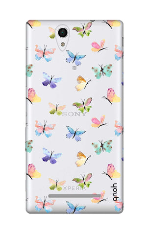 Painted Butterflies Sony C3 Cases & Covers Online
