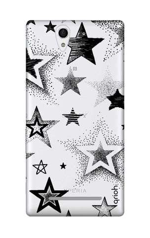 Black Stars Sony C3 Cases & Covers Online