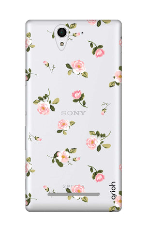 Pink Rose All Over Sony C3 Cases & Covers Online