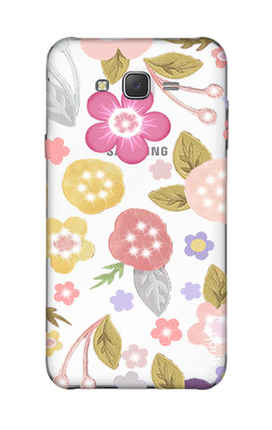 Multi Coloured Bling Floral Samsung J5 Cases & Covers Online
