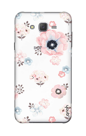 Beautiful White Floral Samsung J5 Cases & Covers Online