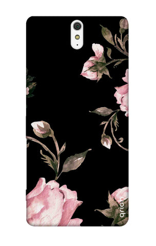 Pink Roses On Black Sony C5 Cases & Covers Online