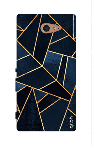 Abstract Navy Sony M2 Cases & Covers Online