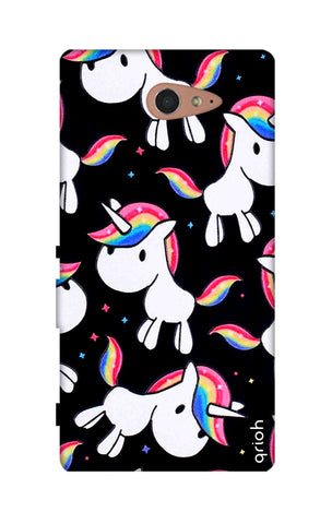 Colourful Unicorn Sony M2 Cases & Covers Online