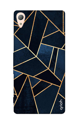 Abstract Navy Sony M4 Cases & Covers Online