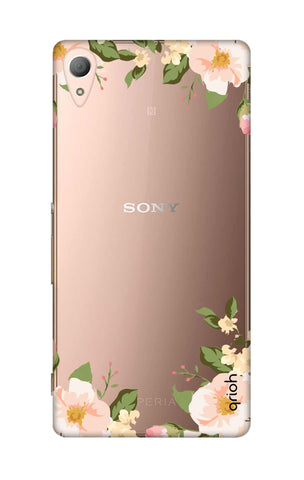 Flower In Corner Sony M4 Cases & Covers Online