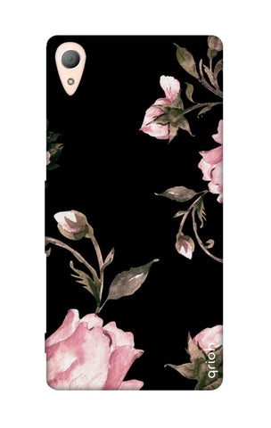 Pink Roses On Black Sony Z4 Cases & Covers Online