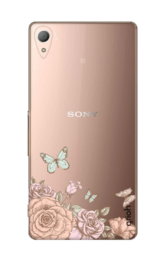 new styles 87bb7 d9108 Flower And Butterfly Case for Sony Z4