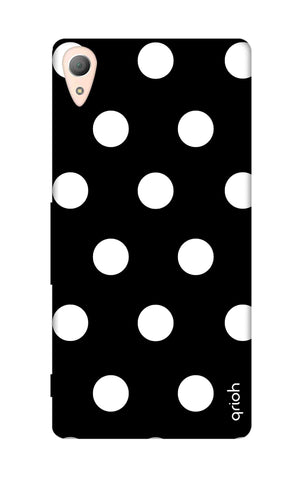 White Polka On Black Sony Z5 Cases & Covers Online