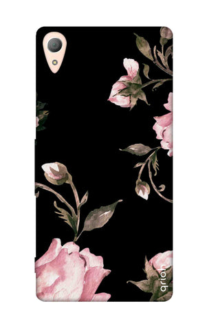 Pink Roses On Black Sony Z5 Cases & Covers Online