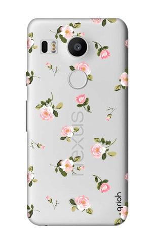 Pink Rose All Over Nexus 5X Cases & Covers Online