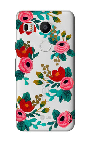 Red Floral Nexus 5X Cases & Covers Online