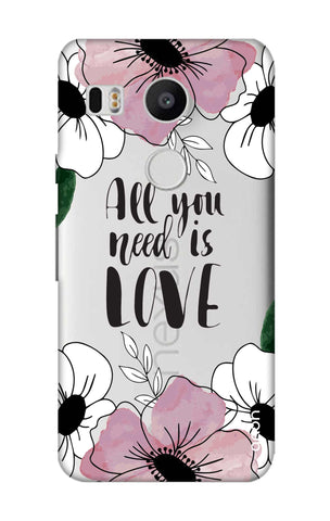 All You Need is Love Nexus 5X Cases & Covers Online
