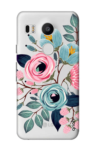 Pink And Blue Floral Nexus 5X Cases & Covers Online