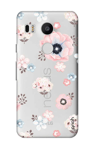 Beautiful White Floral Nexus 5X Cases & Covers Online