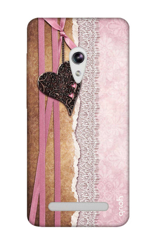 Heart in Pink Lace Asus Zenfone 5 Cases & Covers Online