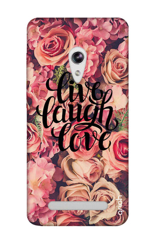Floral Live, Laugh, Love Asus Zenfone 5 Cases & Covers Online
