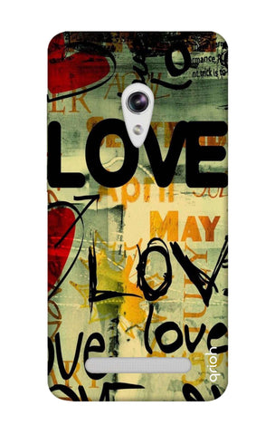 Love Text Asus Zenfone 5 Cases & Covers Online