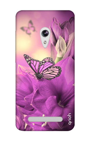 Purple Butterfly Asus Zenfone 5 Cases & Covers Online