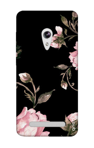 Pink Roses On Black Asus Zenfone 5 Cases & Covers Online
