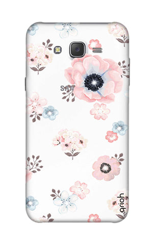 Beautiful White Floral Samsung J7 Cases & Covers Online