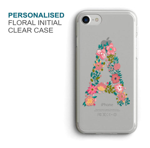 Floral Initial Custom Phone Cover - COD Not Available