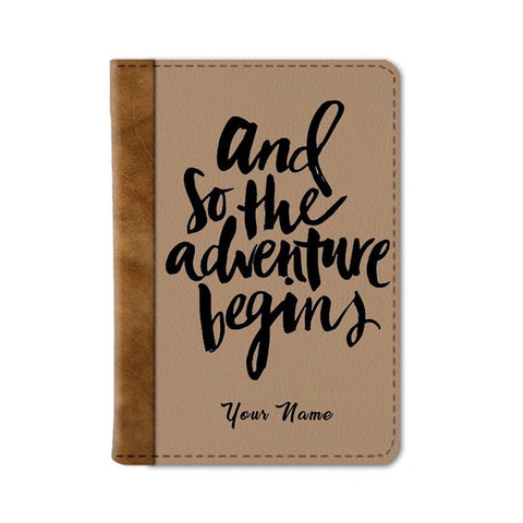 Adventure Begins Custom Passport Wallet