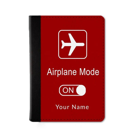 Airplane Mode Custom Passport Wallet