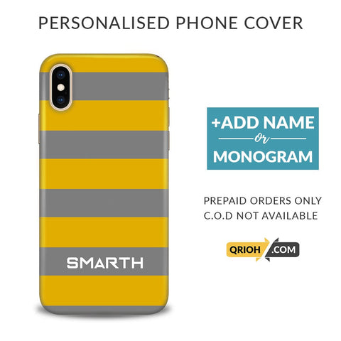 Mustard Custom Phone Cover - COD Not Available