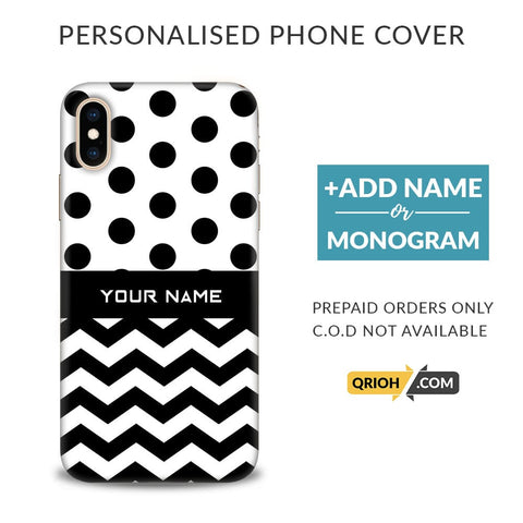 Polka Chevron Custom Phone Cover - COD Not Available