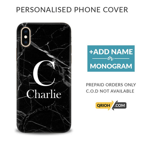 Black Marble Custom Phone Cover - COD Not Available