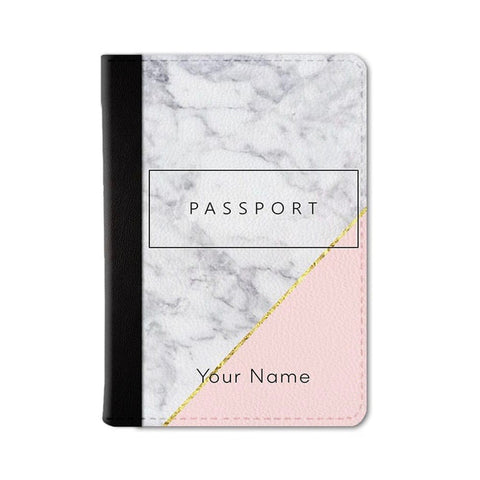 Chic Marble Custom Passport Wallet
