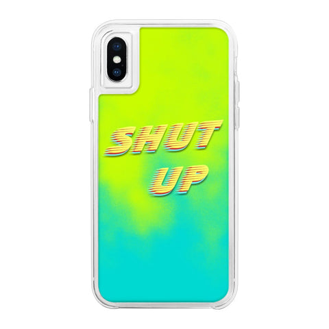 Shut Up Green Neon Sand Glow Case