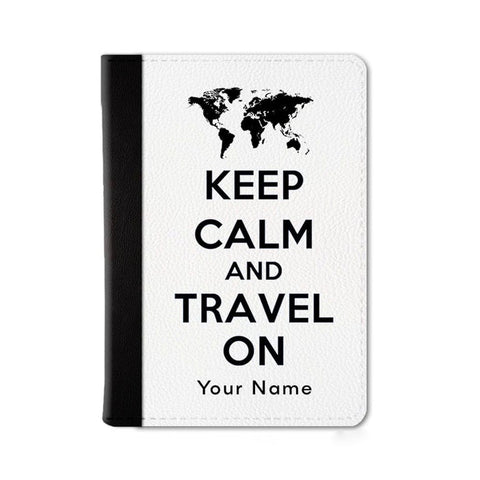 Keep Calm Custom Passport Wallet