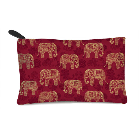 Abstract Elephants Multi Purpose Pouch