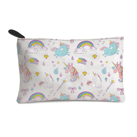 Unicorn With The Rainbow Multi Purpose Pouch