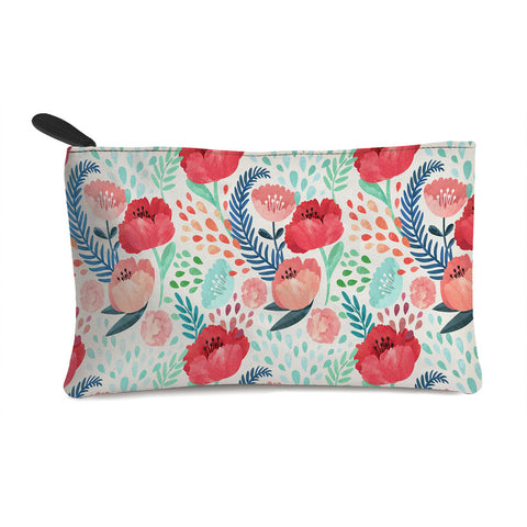 Red Flowers Multi Purpose Pouch