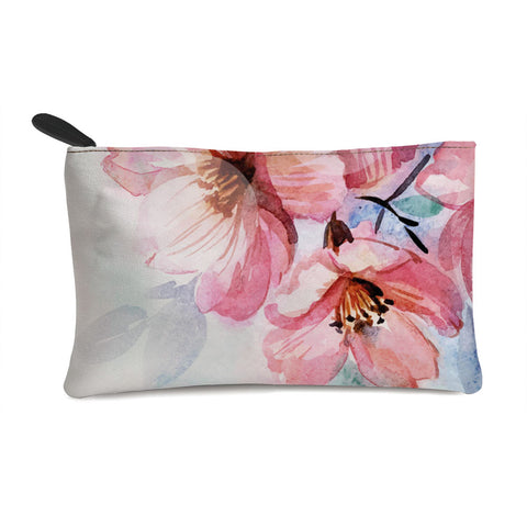 Pinkish Flowers Multi Purpose Pouch