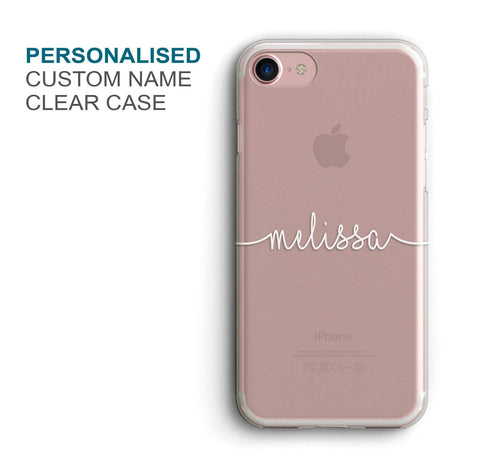 Transparent Name Custom Phone Cover - COD Not Available