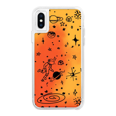 Space Orange Neon Sand Glow Case
