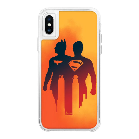 Superhero Orange Neon Sand Glow Case