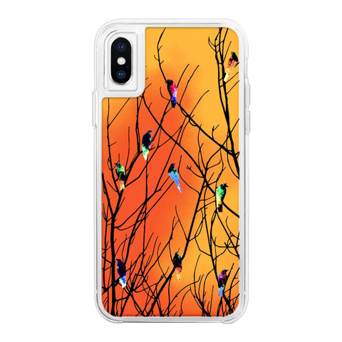 Birds Orange Neon Sand Glow Case