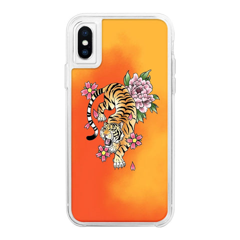 Tiger Orange Neon Sand Glow Case