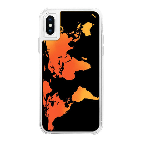 World Orange Neon Sand Glow Case